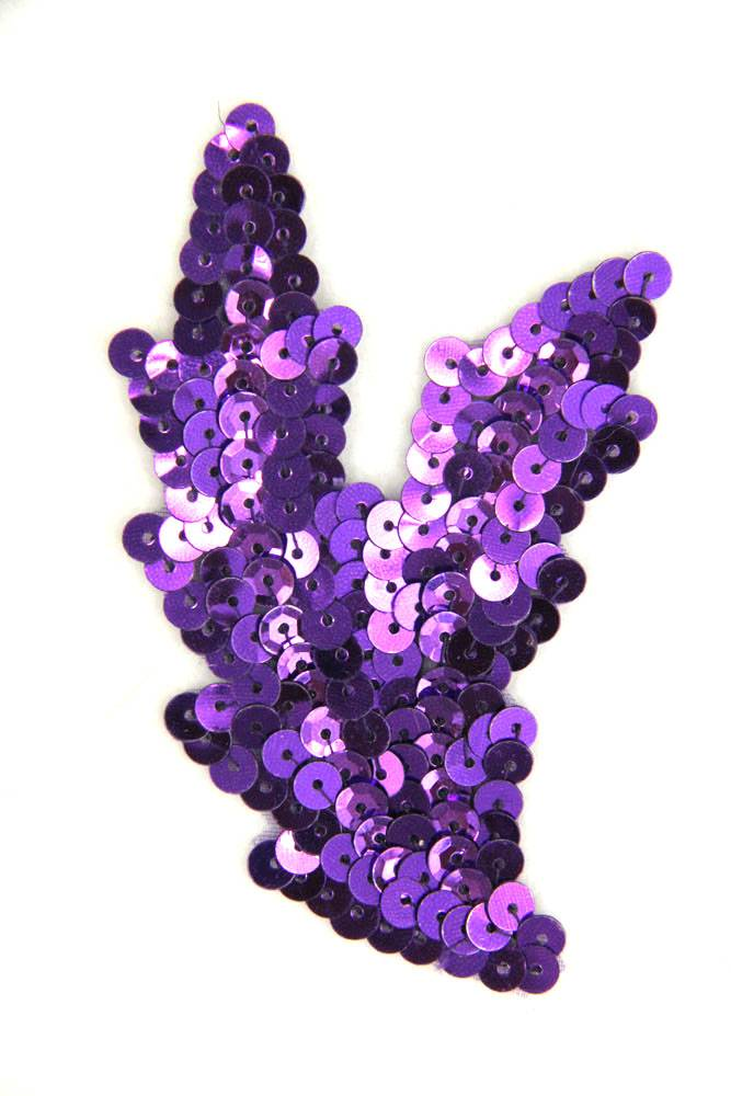 Schwinge klein lila rechts ca. 9x5cm
