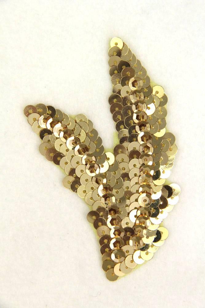 Schwinge klein gold links ca. 9x5cm