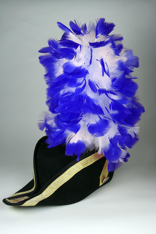 Ruffy-Stutzen weiß+blaue Spitzen 35cm