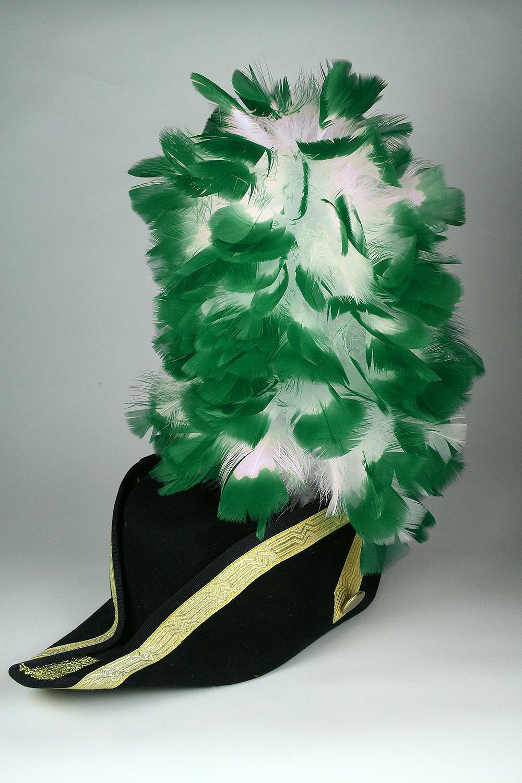 Ruffy-Stutzen weiß+grünen Spitzen 35cm