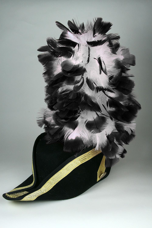 Ruffy-Stutzen weiß+schwarzen Spitzen 35cm