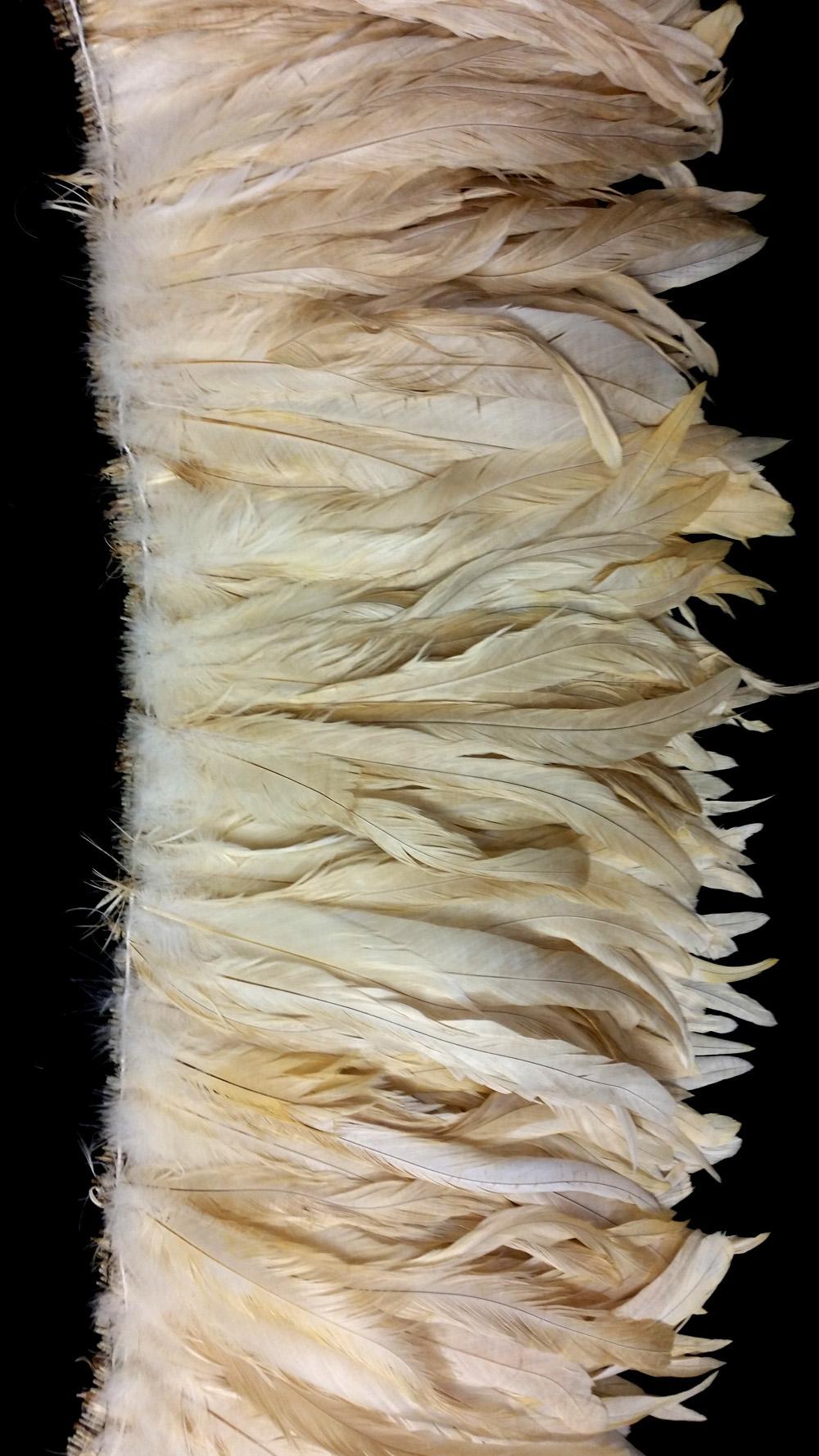 Hahnenschlappen 20-25cm bronze-angebleicht