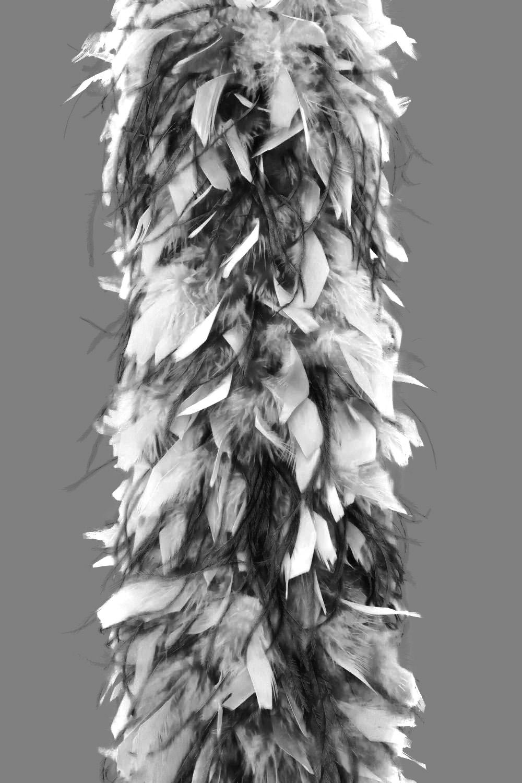 Chandellenboa 1200F weiß + 2-fach Strauß schwarz