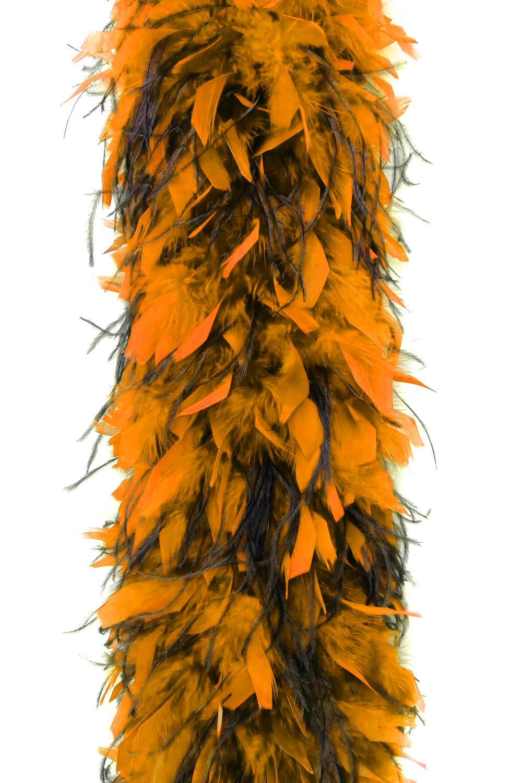 Chandellenboa 1200F orange + 2-fach Strauß schwarz