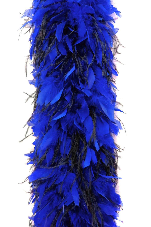 Chandellenboa 1200F blau+ 2-fach Strauß schwarz