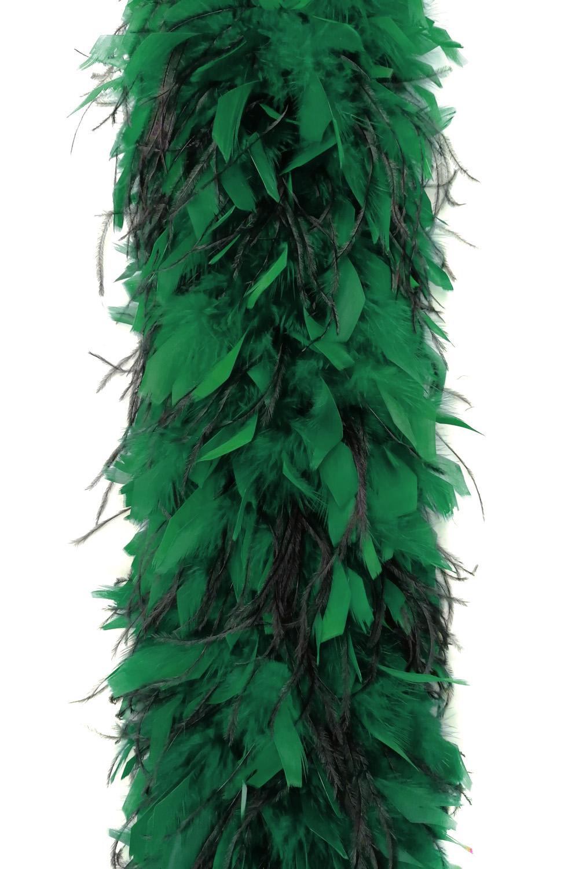 Chandellenboa 1200F grün + 2-fach Strauß schwarz