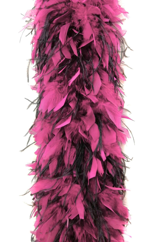 Chandellenboa 1200F pink + 2-fach Strauß schwarz
