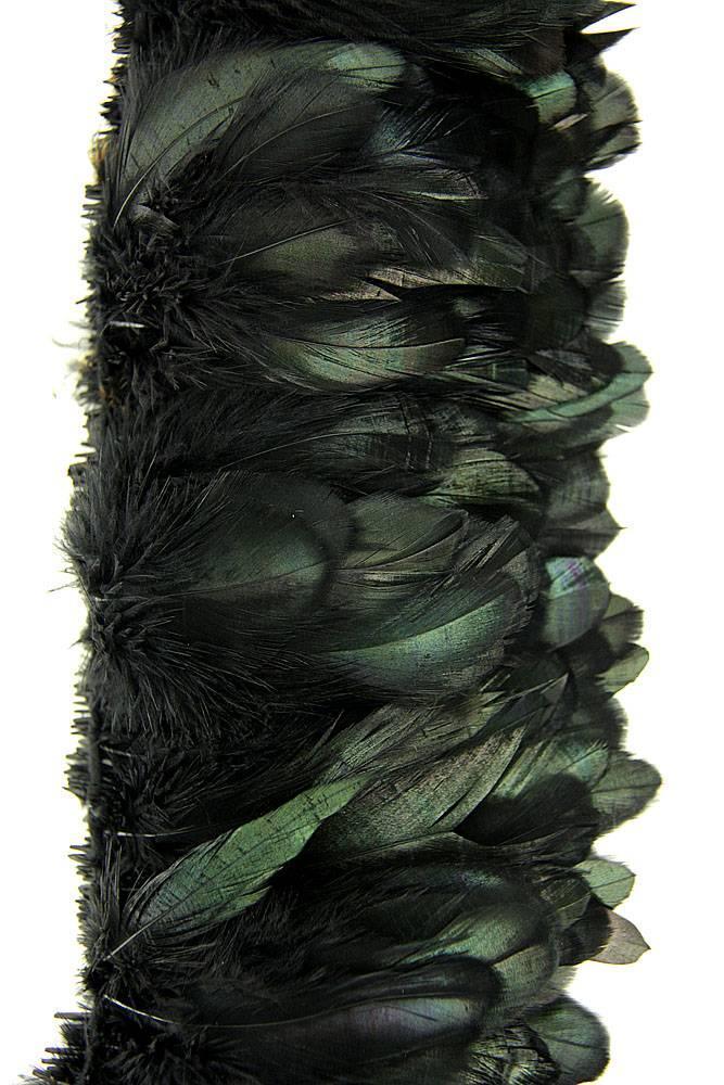 Hahnenschlappen 10-15cm bronze-schwarz