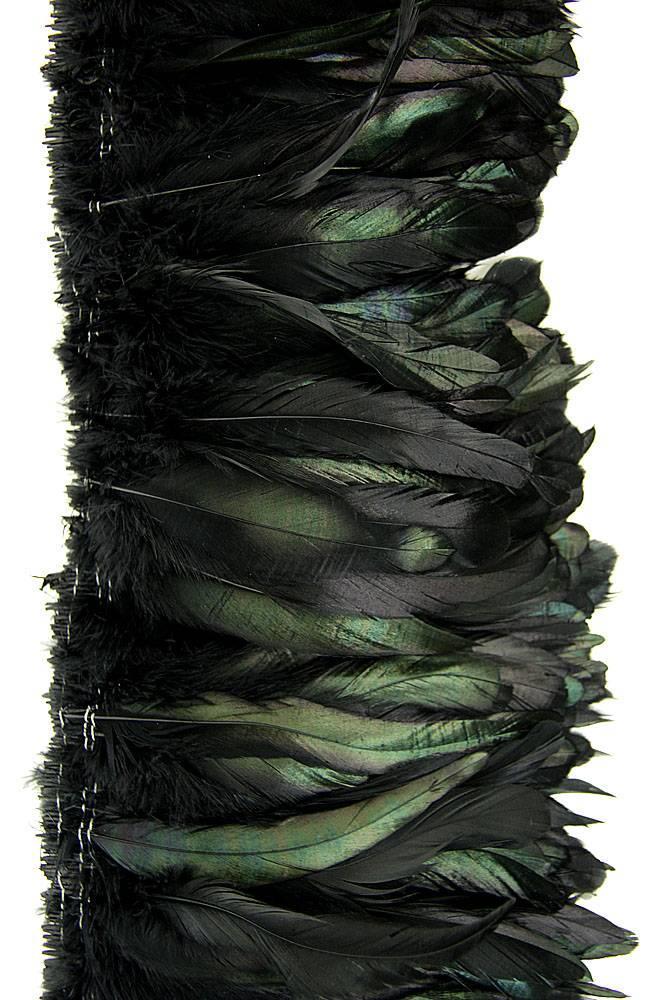 Hahnenschlappen 15-20cm schwarz-bronze