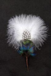 Hat Flower Marabou Peacock