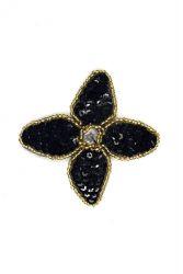 Blüte schwarz ca. 5x5cm