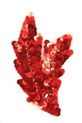 Schwinge klein rot rechts ca. 9x5cm