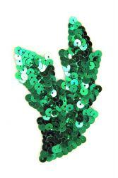 Schwinge klein grün links ca. 9x5cm