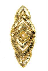 Raute gold ca. 15x6cm