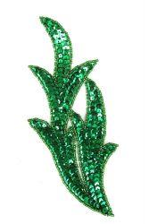 Perlenschwinge grün links ca. 19x8cm