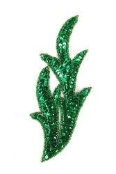 Perlenschwinge grün rechts ca. 19x8cm