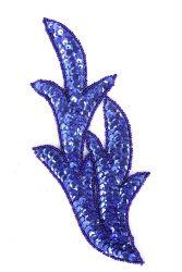 Perlenschwinge blau links ca. 19x8cm