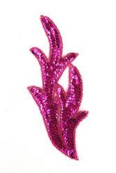 Perlenschwinge pink mit pinken Perlen links ca. 19x8cm