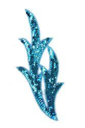 Perlenschwinge türkis links ca. 19x8cm