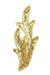 Perlenschwinge gold rechts ca. 19x8cm