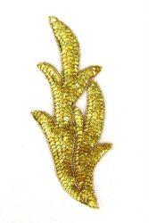 Perlenschwinge gelbholo links ca. 19x8cm