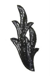 Perlenschwinge schwarzholo links ca. 19x8cm