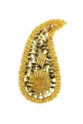 Perlentropfen gold rechts ca. 7x3cm