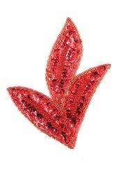 Blätter rot rechts ca. 17x14cm