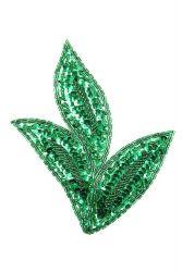 Blätter grün links ca. 17x14cm