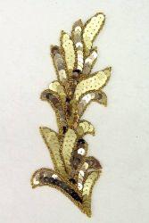 Zweig gold rechts ca. 18x6cm