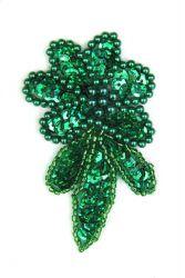 Blume grünholo rechts ca. 7x4cm