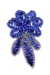 Blume blauholo links ca. 7x4cm