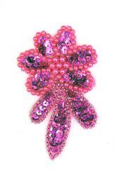 Blume pinkholo rechts ca. 7x4cm