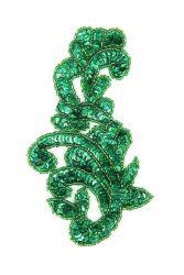 Ornament Schlange grünholo rechts ca. 14x8cm
