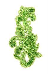 Ornament Schlange hellgrünholo rechts ca. 14x8cm