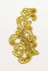 Ornament Schlange goldholo rechts ca. 14x8cm