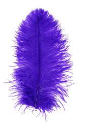 Straußenfeder Karneval 40/50cm lila