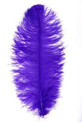 Straußenfeder Karneval 60/70cm lila