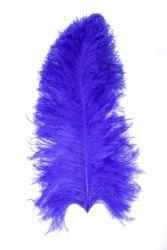 Straußenfeder Mittel 50/60cm blau