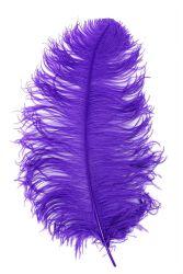 Straußenfeder Mittel 50/60cm lila