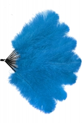 Straußenfächer Blondines Türkis