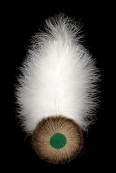 Adlerflaumimitat mit Marabuspitze 9306