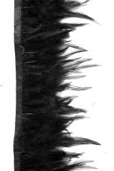 Hahnenkreuzborte ca. 7-15cm schwarz