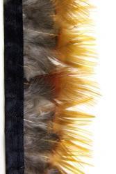 Goldfasanfederborte Gelbfranse 50cm