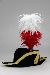 Coque Saddle Hackle 20+5cm white-red