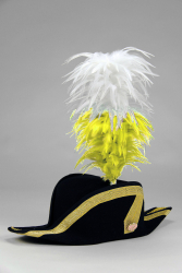 Coque Saddle Hackle 20+5cm white-yellow
