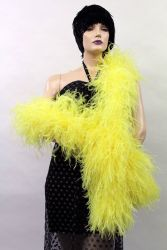 Ostrich Boa Dance Sport light yellow by meter