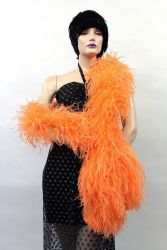 Ostrich Boa Dance Sport apricote by meter