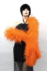 Ostrich Boa Dance Sport orange by meter