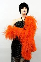 Ostrich Boa Dance Sport dark orange by meter